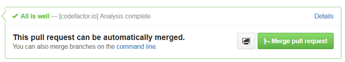 GitHub Pull Request status